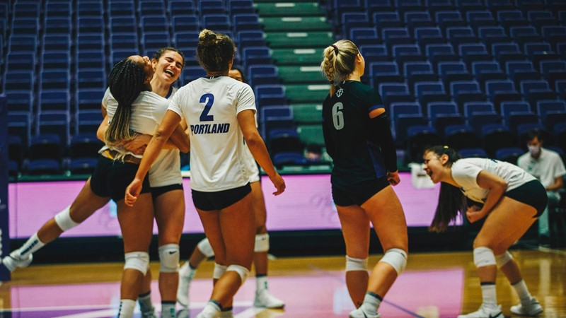 Pilots Sweep Gonzaga in Return to the Chiles Center - University of Portland Athletics